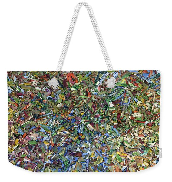 Flowers In A Blue Vase Weekender Tote Bag