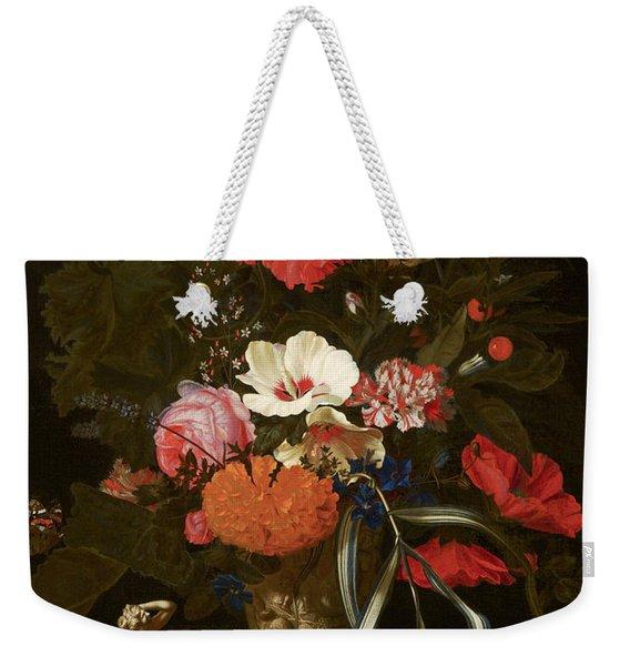 Flowers In An Ornamental Vase Weekender Tote Bag