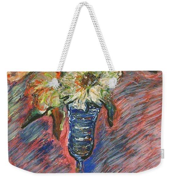 Flowers In Wine Glass Weekender Tote Bag