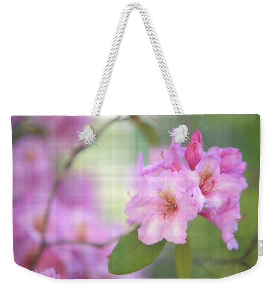 Flowers Of Pink Rhododendron Weekender Tote Bag
