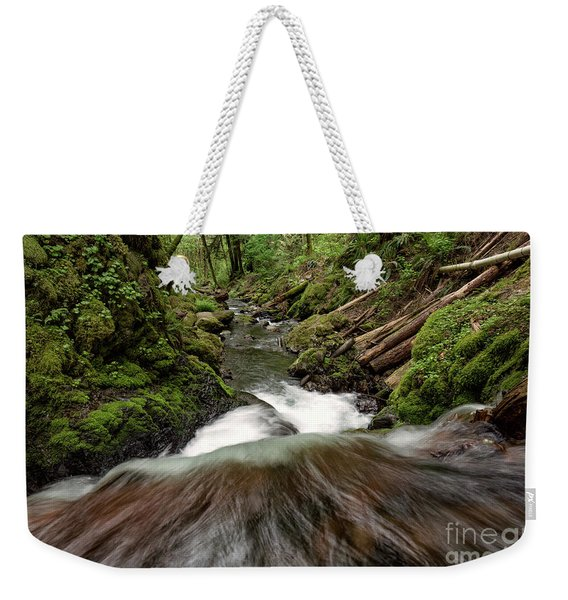 Flowing Downstream Waterfall Art By Kaylyn Franks Weekender Tote Bag