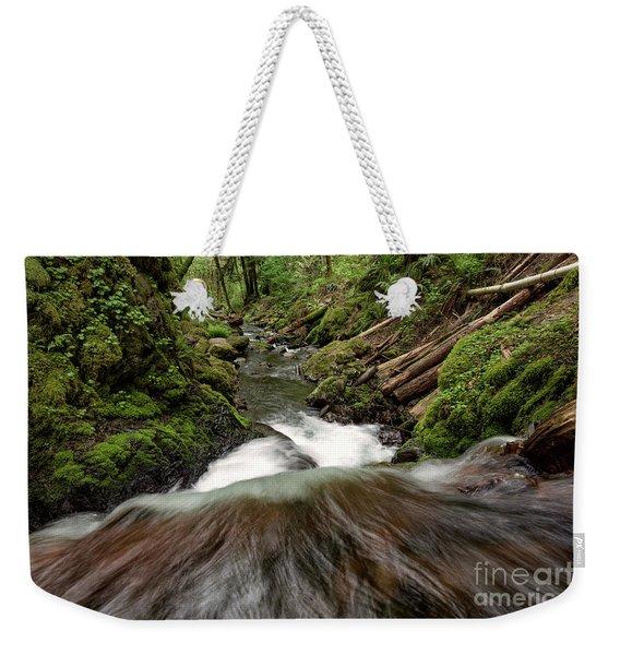 Flowing Downstream Waterfall Art By Kaylyn Franks Weekender Tote Bag