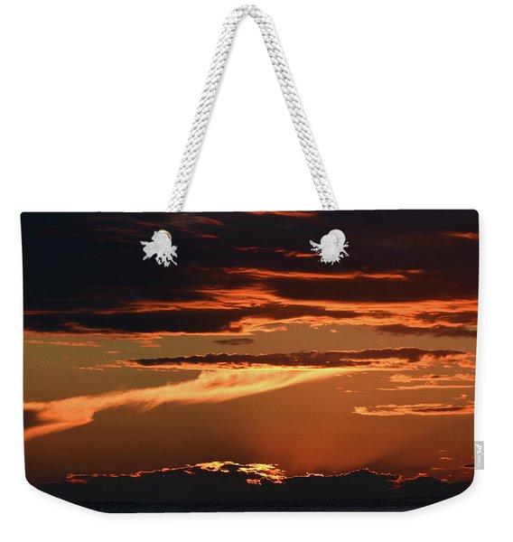 Flowing Lava Weekender Tote Bag