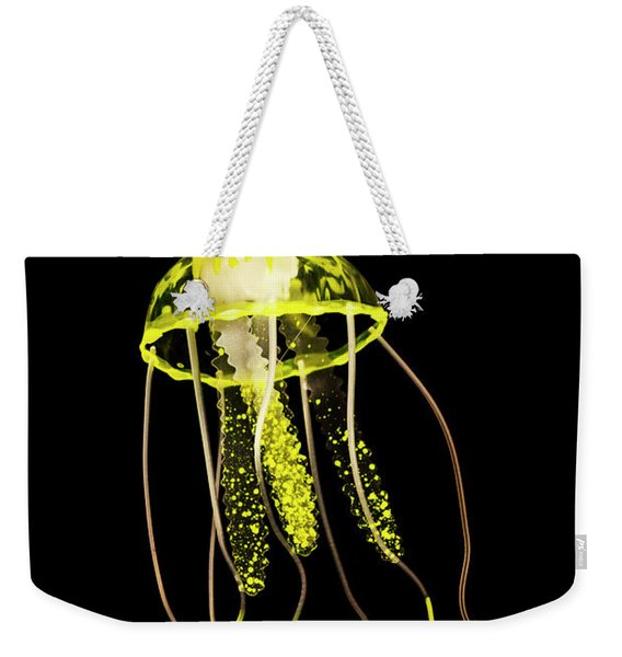 Flows Of Yellow Marine Life Weekender Tote Bag