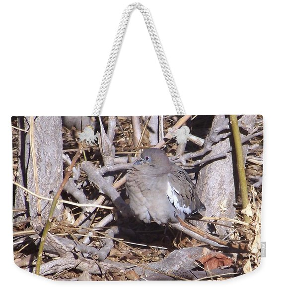 Fluffy Dove Weekender Tote Bag