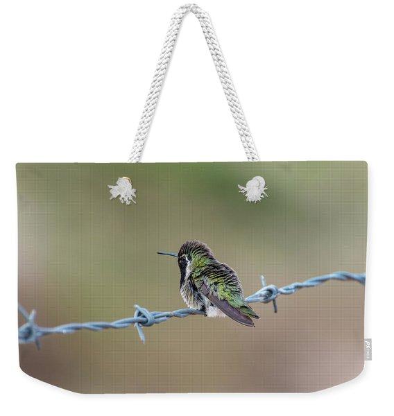 Fluffy Hummingbird Weekender Tote Bag