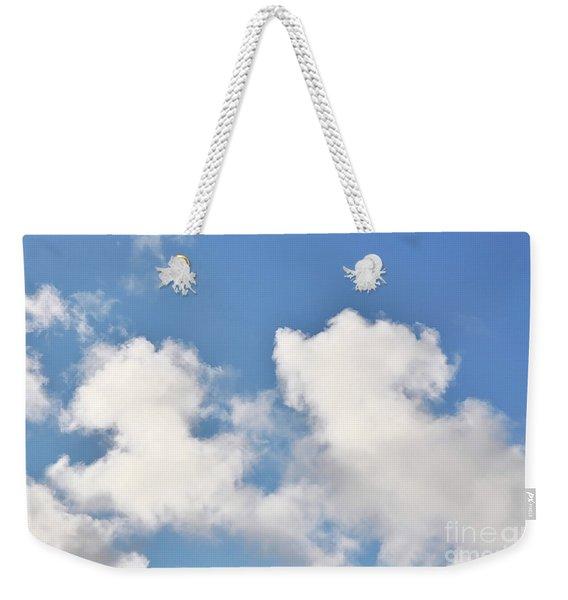 Fluffy Lamb Cloud Weekender Tote Bag