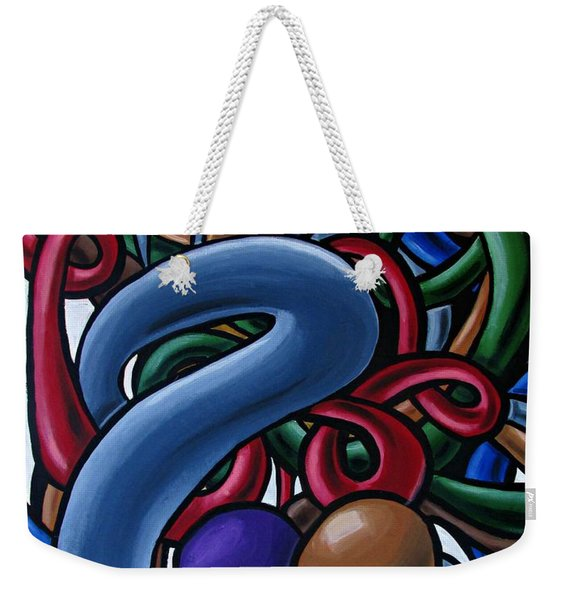 Colorful Abstract Art Painting Chromatic Water Artwork  Weekender Tote Bag