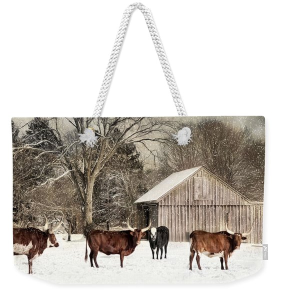 Flurries On The Farm Weekender Tote Bag