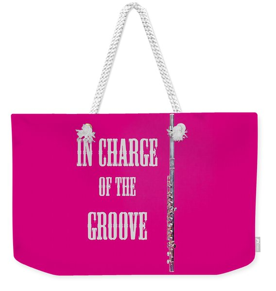Flute In Charge Of The Groove 5527.02 Weekender Tote Bag