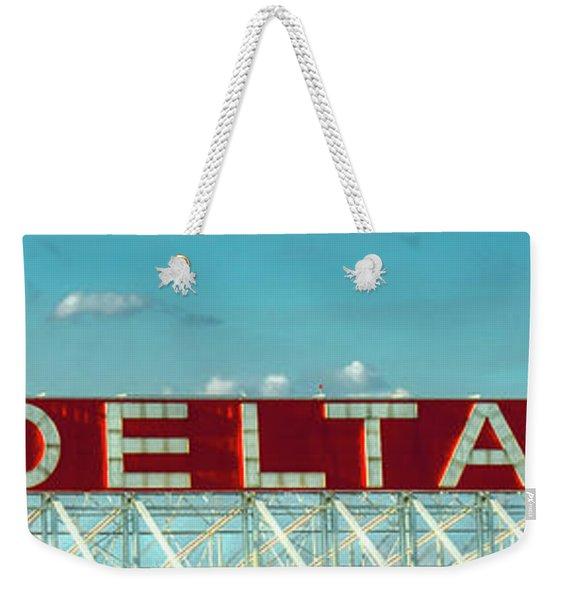 Fly Delta Jets Signage Hartsfield Jackson International Airport Atlanta Georgia Art Weekender Tote Bag