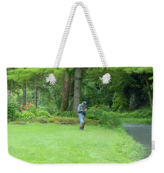 Fly Fishing On Trout Run Creek Weekender Tote Bag