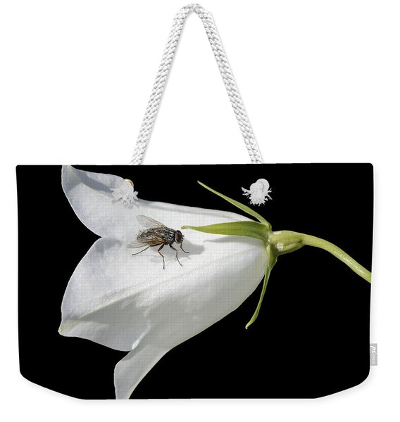 Fly On White Flower Weekender Tote Bag