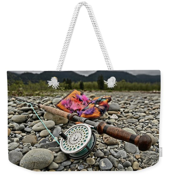 Fly Rod And Streamers Landscape Weekender Tote Bag