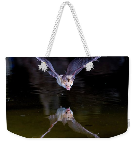Flying Bat With Reflection Weekender Tote Bag