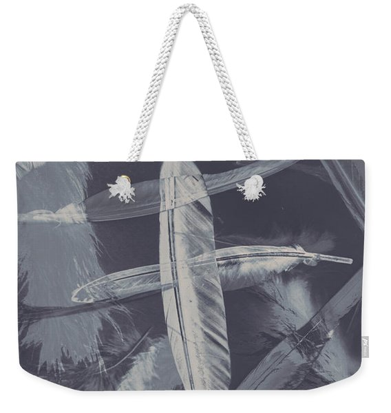 Flying Featherabstract Background Weekender Tote Bag