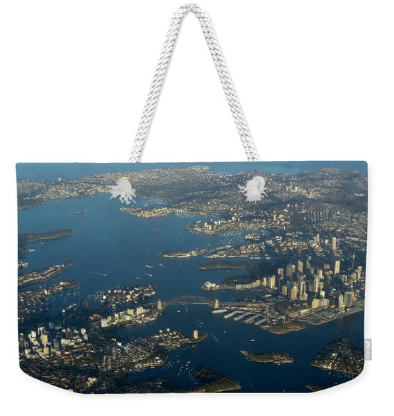 Flying Into Sydney Weekender Tote Bag