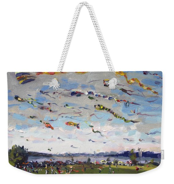 Flying Kites Over Gratwick Park Weekender Tote Bag