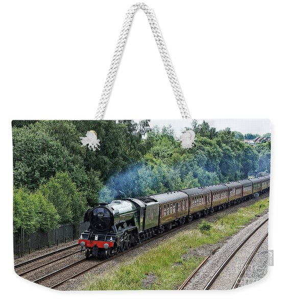Flying Scotsman Approaching Chesterfield Weekender Tote Bag