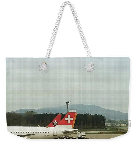 Flying Swiss Air While In Switzerland! Weekender Tote Bag
