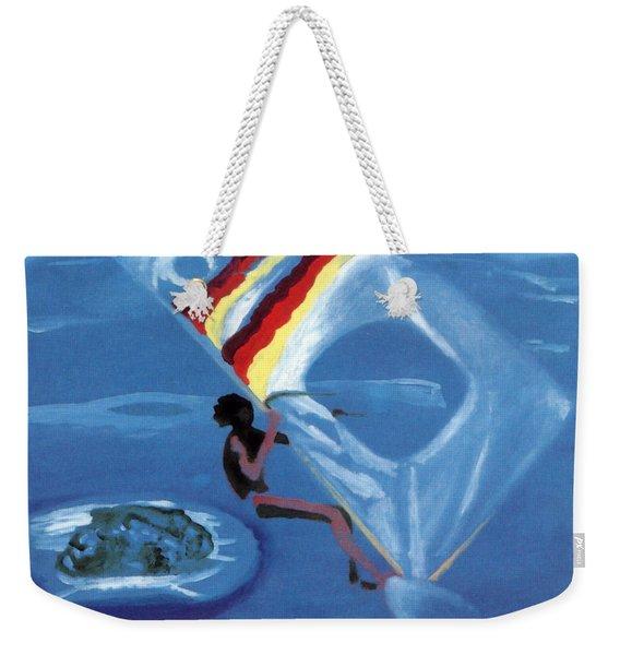 Flying Windsurfer Weekender Tote Bag