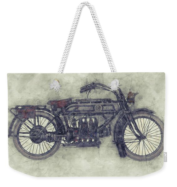 Fn Four 1 - Fabrique Nationale - 1905 - Motorcycle Poster - Automotive Art Weekender Tote Bag
