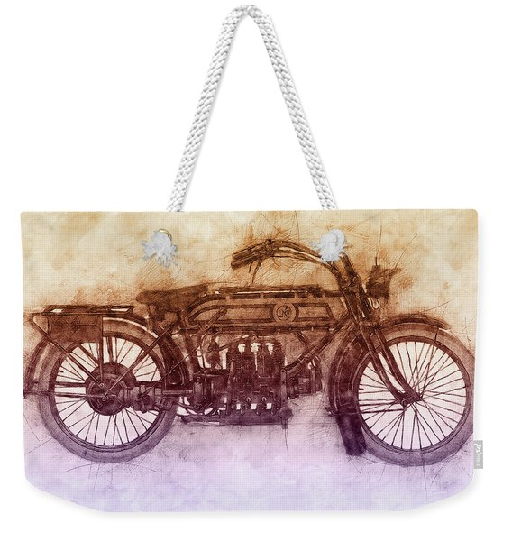 Fn Four 2 - Fabrique Nationale - 1905 - Motorcycle Poster - Automotive Art Weekender Tote Bag