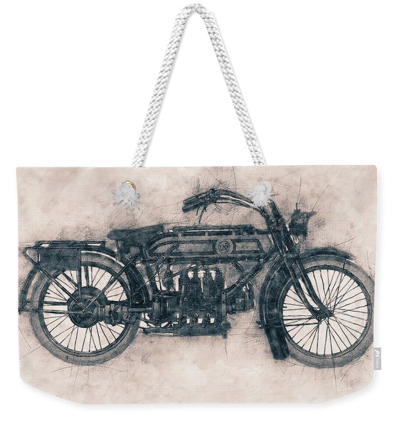 Fn Four - Fabrique Nationale - 1905 - Motorcycle Poster - Automotive Art Weekender Tote Bag