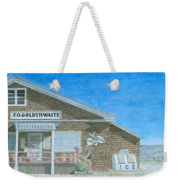 Weekender Tote Bag featuring the painting F.o. Goldthwaite by Dominic White