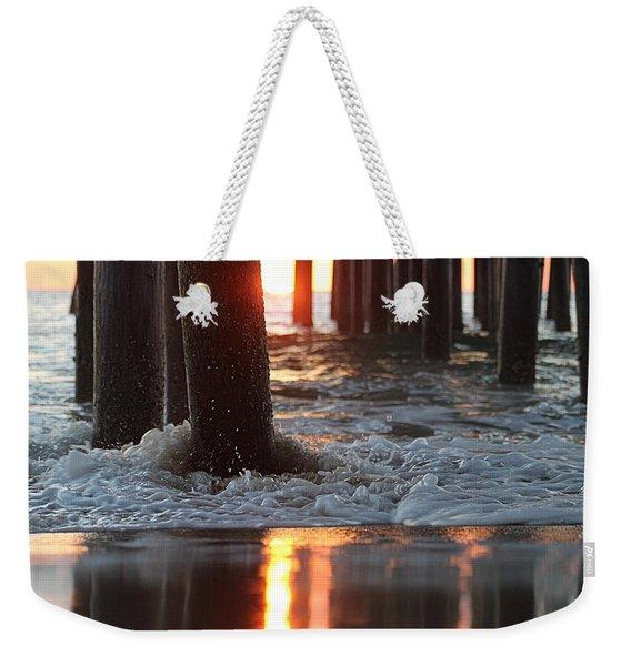 Foamy Waters Under The Pier Weekender Tote Bag