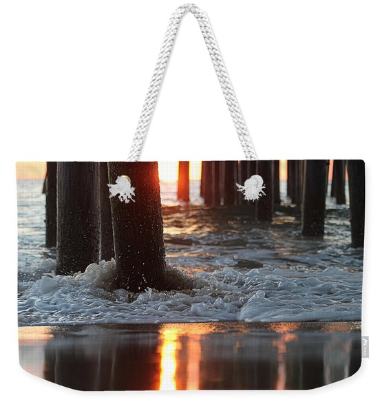 Foamy Waters Under The Pier Weekender Tote Bag