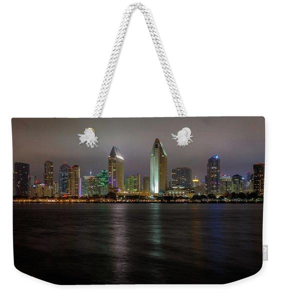 Fog Glow Over San Diego Weekender Tote Bag
