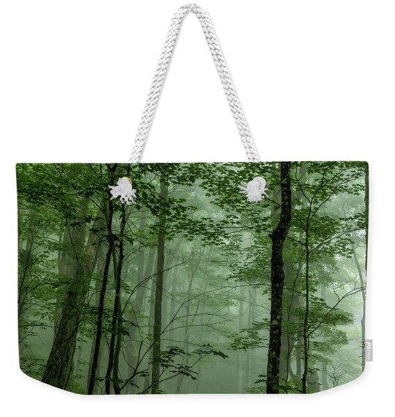 Fog In The Forest Weekender Tote Bag
