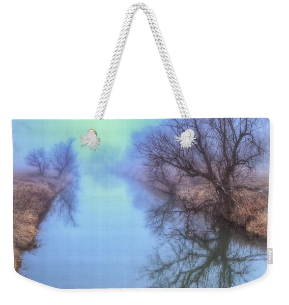 Fog On The Redwater Weekender Tote Bag