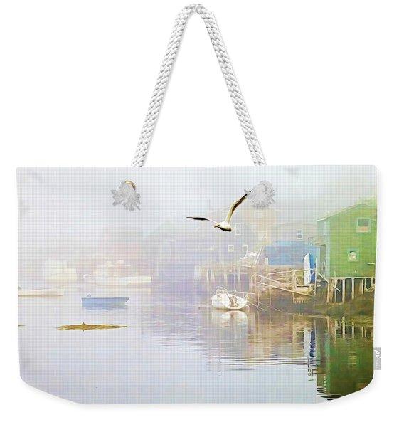 Fog Over West Dover - Digital Paint Weekender Tote Bag