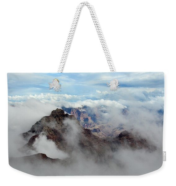 Fog Shrouded Vishnu Temple  Weekender Tote Bag