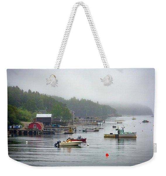 Foggy Afternoon In Mackerel Cove  Weekender Tote Bag