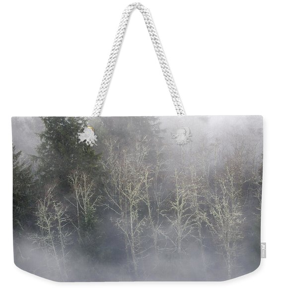 Foggy Alders In The Forest Weekender Tote Bag