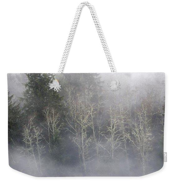 Foggy Alders In The Forest Weekender Tote Bag