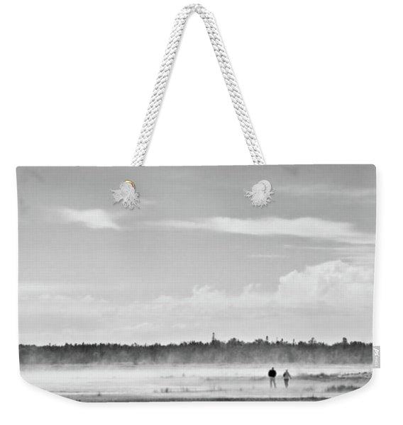 Foggy Day On A Marsh Weekender Tote Bag