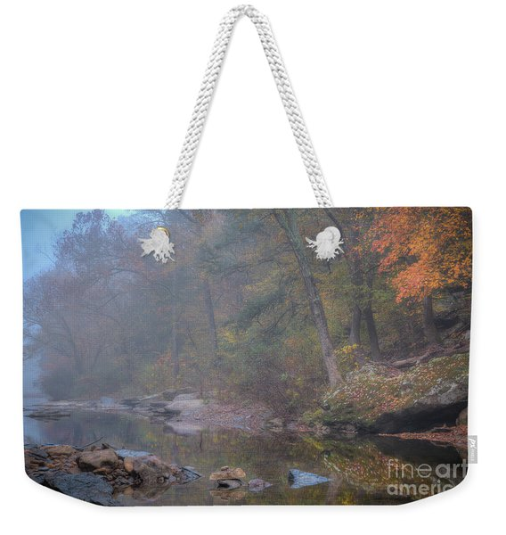 Foggy Fall Weekender Tote Bag