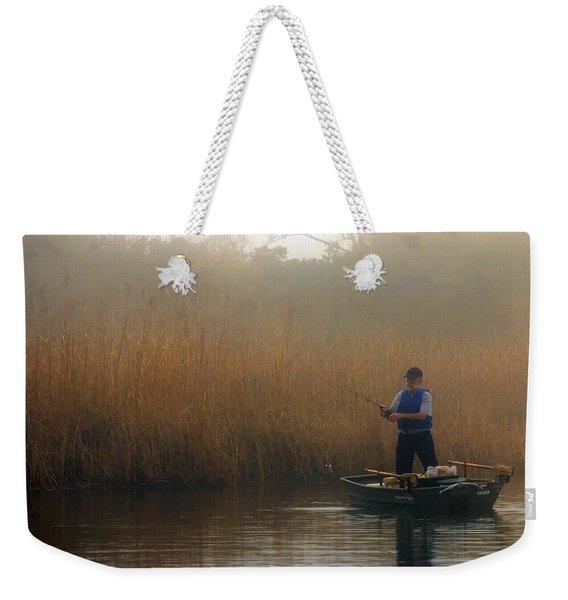 Foggy Fishing Weekender Tote Bag