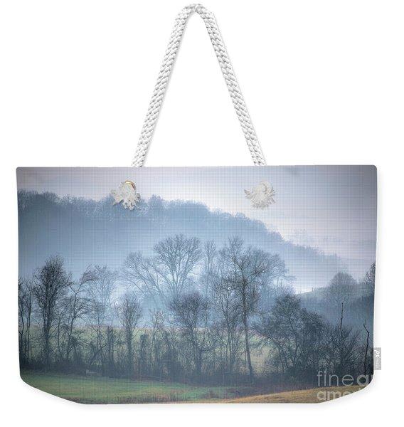 Foggy Hills Weekender Tote Bag
