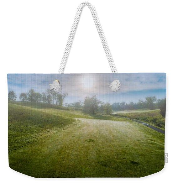 Foggy Look Back Weekender Tote Bag