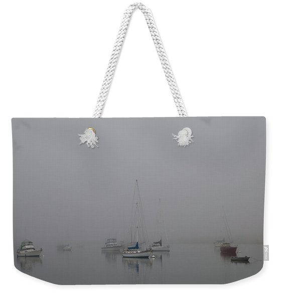 Waiting Out The Fog Weekender Tote Bag