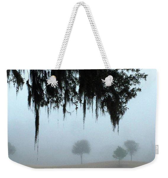 Foggy Morn Reflections Weekender Tote Bag