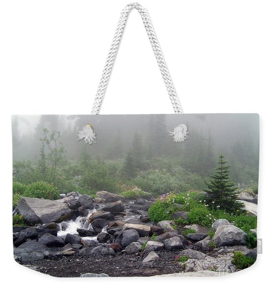 Foggy Morning At Paradise Weekender Tote Bag