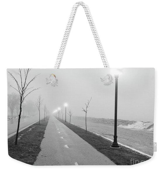 Foggy Morning Walk Weekender Tote Bag