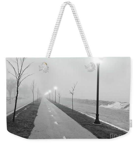 Foggy Morning Walk Weekender Tote Bag