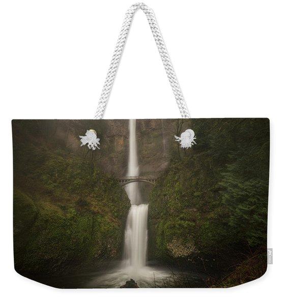Foggy Multnomah Falls Weekender Tote Bag